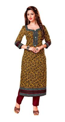 Buy Padmini Unstitched Printed Cotton Kurti Fabrics (product Code -dtkakavya1165) online