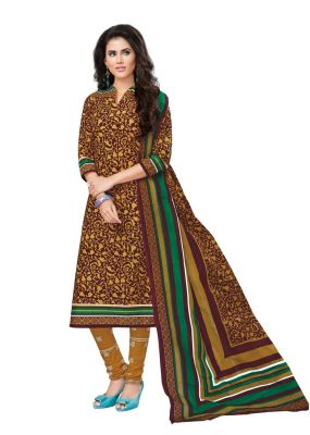 Buy Padmini Unstitched Printed Cotton Dress Materials Fabrics (product Code - Dtvcfemina1903) online