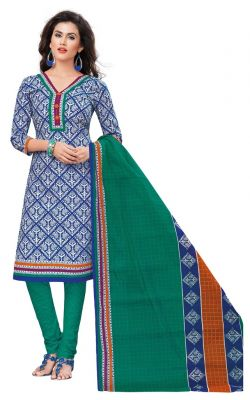 Buy Padmini Unstitched Printed Cotton Dress Materials Fabrics (product Code - Dtvcshrutika2013) online