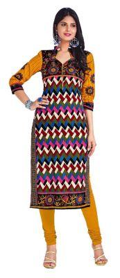 Buy Padmini Unstitched Printed Cotton Kurti Fabrics (product Code - Dtkapriya2154) online