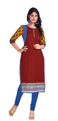 Buy Padmini Unstitched Printed Cotton Kurti Fabrics (product Code - Dtkapriya2160) online