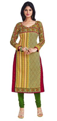 Buy Padmini Unstitched Printed Cotton Kurti Fabrics (product Code - Dtkapriya2161) online