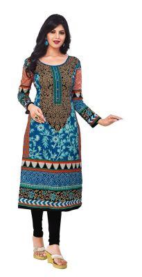 Buy Padmini Unstitched Printed Cotton Kurti Fabrics (product Code - Dtkapriya2162) online