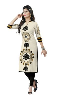 Buy Padmini Unstitched Printed Cotton Kurti Fabrics (product Code - Dtafsakhi2305) online