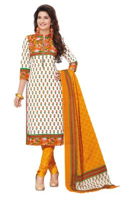 Buy Padmini Unstitched Printed Cotton Dress Materials Fabrics (product Code - Dtafspl2604) online