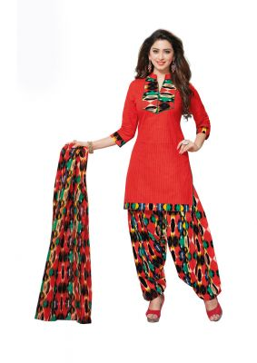 Buy Padmini Unstitched Printed Cotton Dress Material (product Code - Dtafmahi2701) online