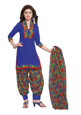 Buy Padmini Unstitched Printed Cotton Dress Material (product Code - Dtafmahi2703) online