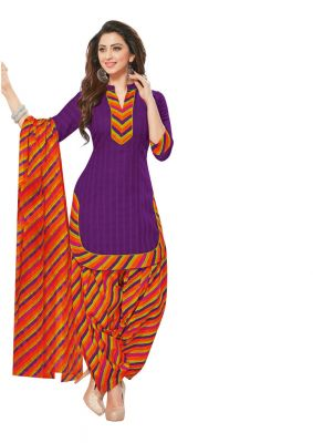 Buy Padmini Unstitched Printed Cotton Dress Material (product Code - Dtafmahi2704) online