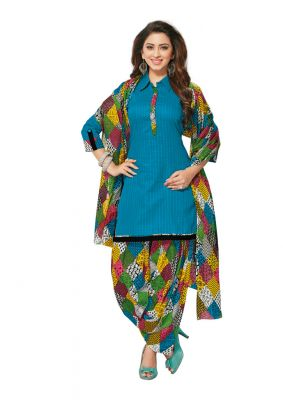 Buy Padmini Unstitched Printed Cotton Dress Material (product Code - Dtafmahi2709) online