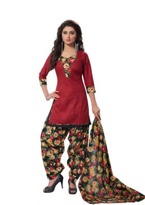 Buy Padmini Unstitched Printed Cotton Dress Material (product Code - Dtafmahi2710) online