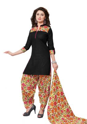 Buy Padmini Unstitched Printed Cotton Dress Material (product Code - Dtafmahi2712) online
