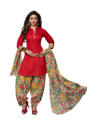 Buy Padmini Unstitched Printed Cotton Dress Material (product Code - Dtafmahi2713) online