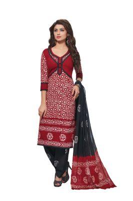 Buy Padmini Unstitched Printed Cotton Dress Material (product Code - Dtafbattik2761) online