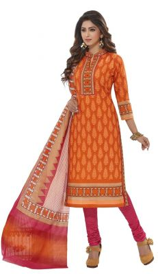 Buy Padmini Unstitched Printed Cotton Dress Materials Fabrics (product Code - Dtafspl2908) online