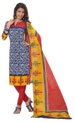 Buy Padmini Unstitched Printed Cotton Dress Materials Fabrics (product Code - Dtafspl2915) online