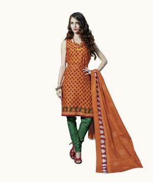 Buy Padmini Unstitched Printed Cotton Dress Material (product Code - Dtpcragini3006) online
