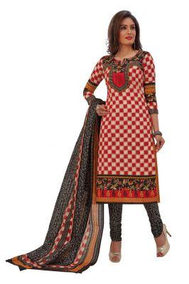 Buy Padmini Unstitched Printed Cotton Dress Materials Fabrics (product Code - Dtafrangresham3062) online