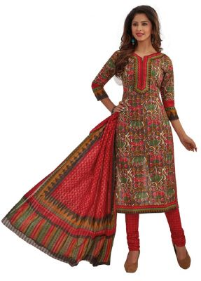 Buy Padmini Unstitched Printed Cotton Dress Materials Fabrics (product Code - Dtafrangresham3065) online