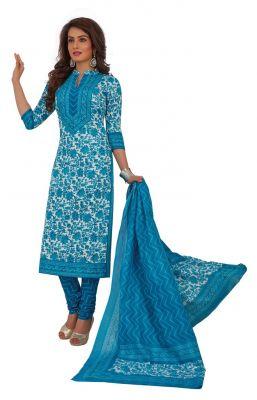 Buy Padmini Unstitched Printed Cotton Dress Materials Fabrics (product Code - Dtafrangresham3067) online