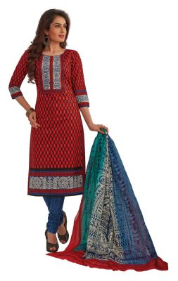 Buy Padmini Unstitched Printed Cotton Dress Materials Fabrics (product Code - Dtafrangresham3069) online