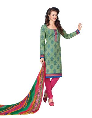 Buy Padmini Unstitched Printed Cotton Dress Materials Fabrics (product Code - Dtbjaroma3132) online