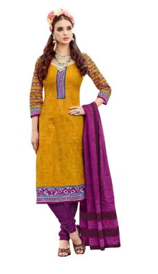 Buy Padmini Unstitched Printed Cotton Dress Material (product Code - Dtsjtrendy3406) online