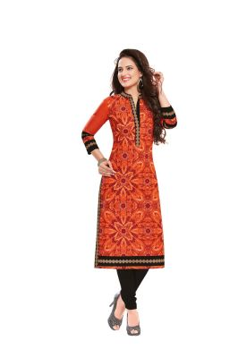Buy Padmini Unstitched Printed Cotton Kurti Fabrics (product Code - Dtafsaheli1402) online