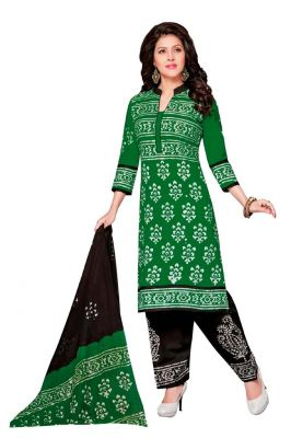 Buy Padmini Unstitched Printed Cotton Dress Material (product Code - Dtafbattik2405) online