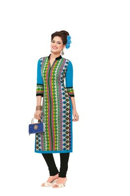 Buy Padmini Unstitched Printed Cotton Kurti Fabrics (product Code - Dtafsaheli1410) online