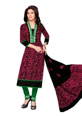 Buy Padmini Unstitched Printed Cotton Dress Material (product Code - Dtafbattik2412) online