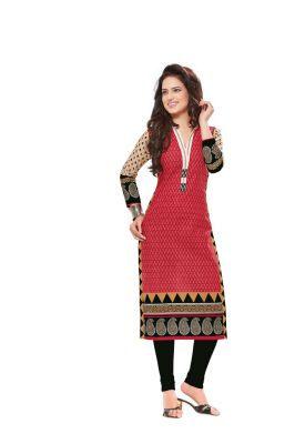 Buy Padmini Unstitched Printed Cotton Kurti Fabrics (product Code - Dtafsaheli1418) online