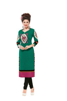 Buy Padmini Unstitched Printed Cotton Kurti Fabrics (product Code - Dtafsaheli1421) online