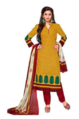 Buy Padmini Unstitched Printed Cotton Dress Material (product Code - Dtkashree4703) online