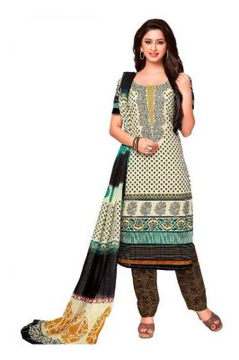 Buy Padmini Unstitched Printed Cotton Dress Material (product Code - Dtkashree4704) online