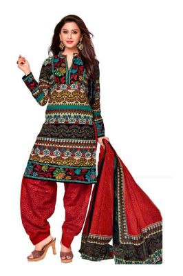 Buy Padmini Unstitched Printed Cotton Dress Material (product Code - Dtkashree4705) online