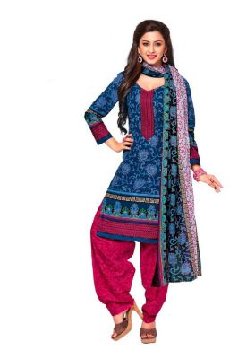 Buy Padmini Unstitched Printed Cotton Dress Material (product Code - Dtkashree4709) online