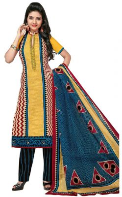 Buy Padmini Unstitched Printed Cotton Dress Material (product Code - Dtkashree4752) online