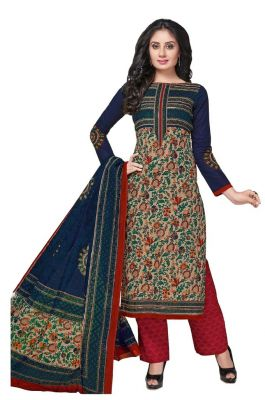 Buy Padmini Unstitched Printed Cotton Dress Material (product Code - Dtkashree4753) online
