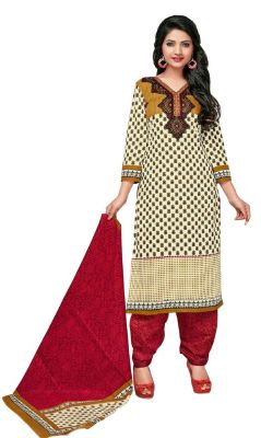 Buy Padmini Unstitched Printed Cotton Dress Material (product Code - Dtkashree4754) online