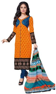 Buy Padmini Unstitched Printed Cotton Dress Material (product Code - Dtkashree4761) online