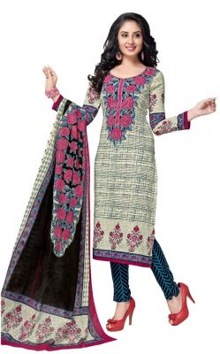 Buy Padmini Unstitched Printed Cotton Dress Material (product Code - Dtkashree4762) online