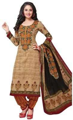 Buy Padmini Unstitched Printed Cotton Dress Material (product Code - Dtkashree4764) online