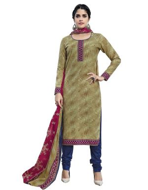 Buy Padmini Unstitched Printed Cotton Dress Material (product Code - Dtmcm5011) online