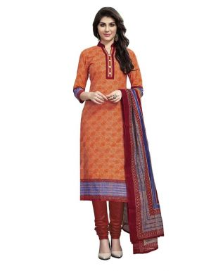 Buy Padmini Unstitched Printed Cotton Dress Material (product Code - Dtmcm5013) online