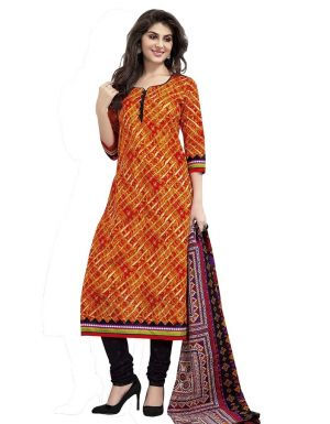 Buy Padmini Unstitched Printed Cotton Dress Material (product Code - Dtmcm5015) online
