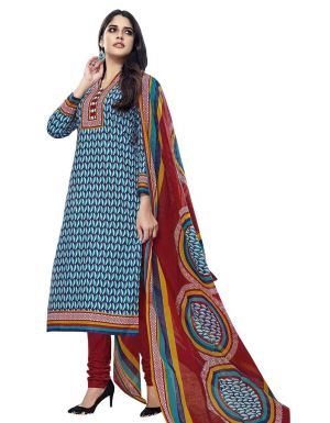 Buy Padmini Unstitched Printed Cotton Dress Material (product Code - Dtmcm5016) online