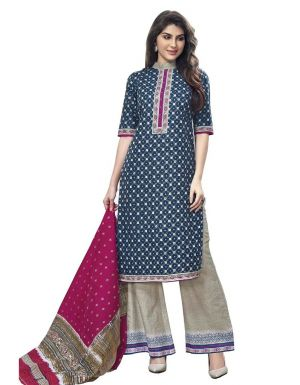 Buy Padmini Unstitched Printed Cotton Dress Material (product Code - Dtmcm5019) online