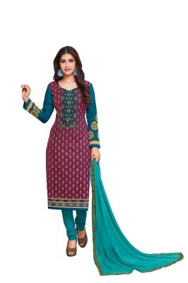 Buy Padmini Unstitched Printed Cotton Dress Material (product Code - Dtkakashish2501) online
