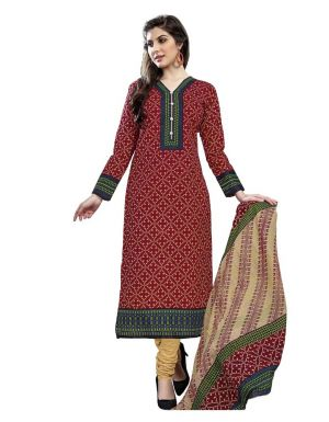 Buy Padmini Unstitched Printed Cotton Dress Material (product Code - Dtmcm5028) online