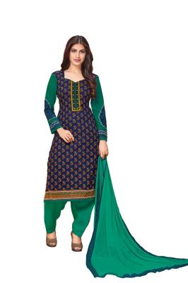 Buy Padmini Unstitched Printed Cotton Dress Material (product Code - Dtkakashish2503) online
